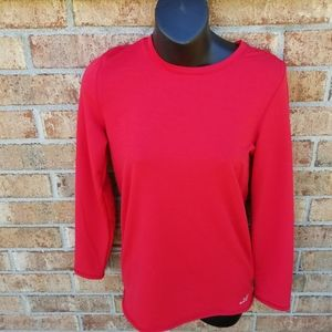 BCG Red Athletic Long Sleeve Top